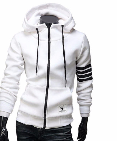 Casual Zipper Hooded Jackets - DendiShop