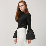 Flare Sleeves High Collar Streetwear - DendiShop