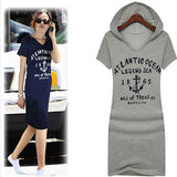 New Women's Casual Letter Print Long Cotton Hoodie - DendiShop