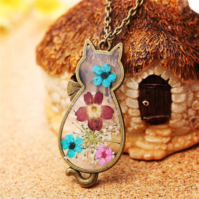 Flowers Are Furrever Pendant