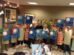 Serious Fun Art Studio Ginger Myers Art Paint night