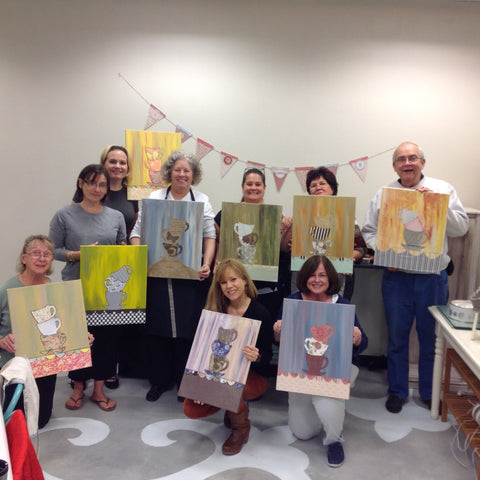 Serious Fun Art Studio art classes painting Ginger Myers Tampa Florida