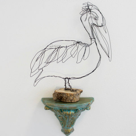 Wire sculpture ginger myers art pelican pete publicscrutiny Gallery