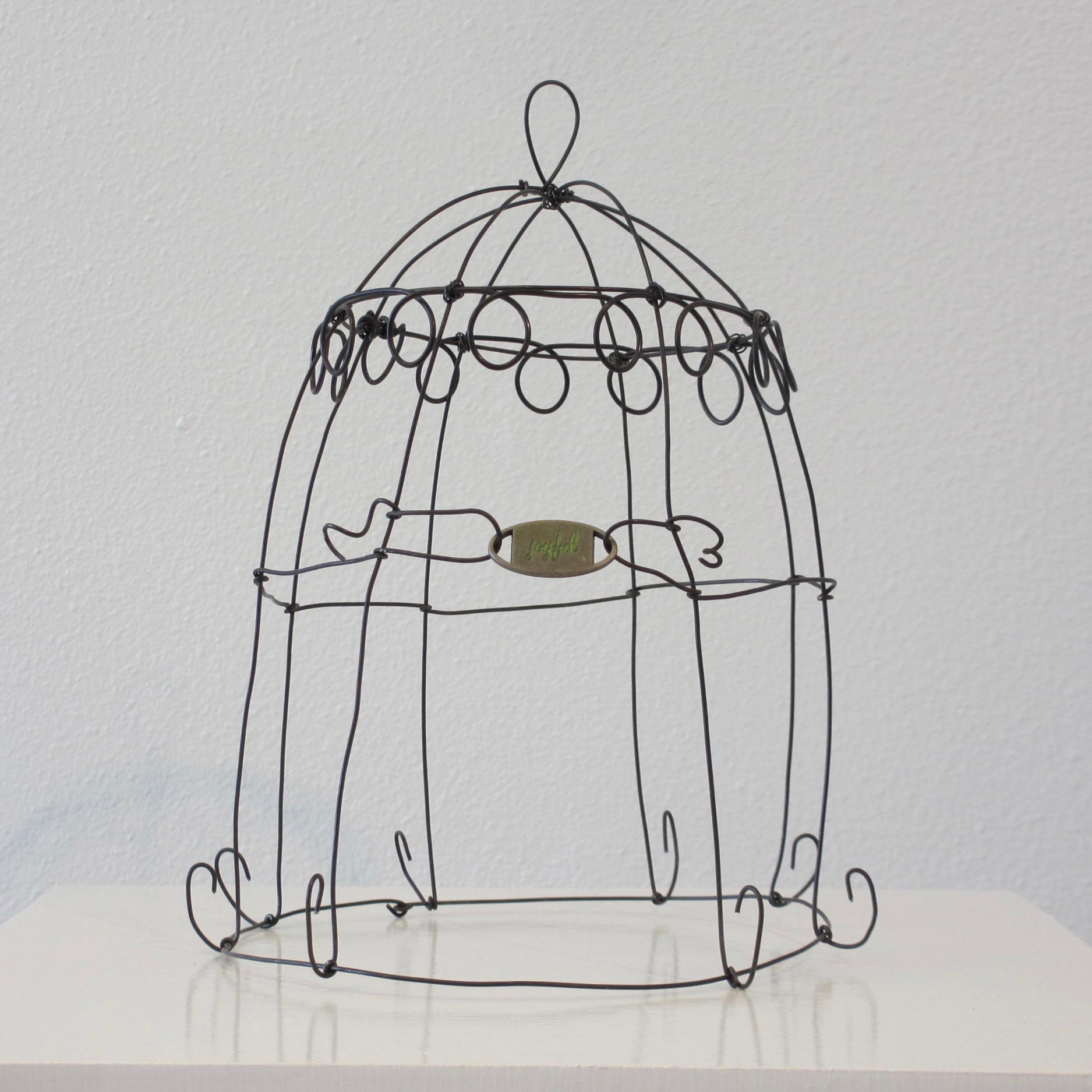 Wire Sculpture Ginger Myers Art Wiring Up A French Plug Cloche Joyful