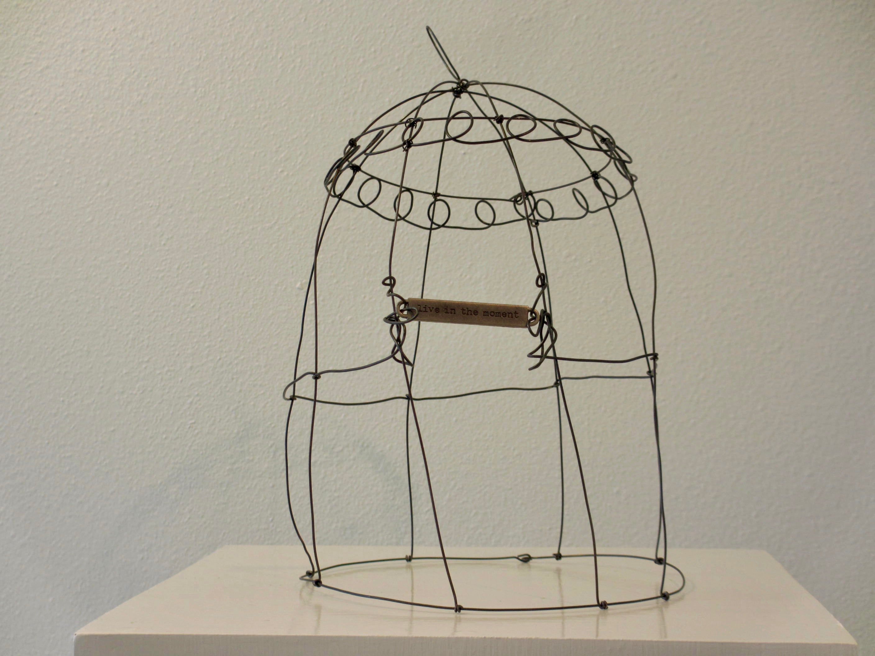 Wire Sculpture Ginger Myers Art Wiring Up A French Plug Cloche Live In The Moment