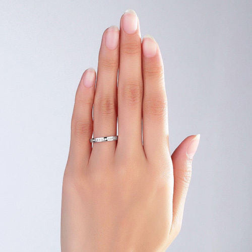 dainty stone out check facets white deals ring bands engagement shop karats etsy this solid facetsandkarats in on made by gold yellow rose three promise wedding band these anniversary hot