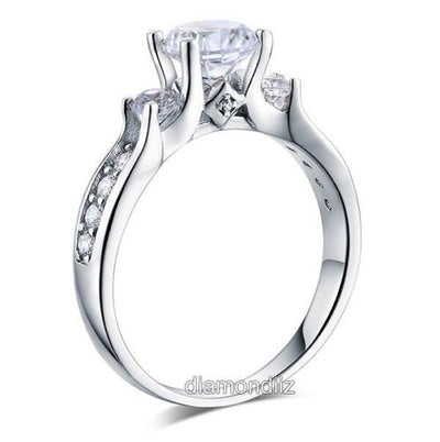 925 Sterling Silver Wedding Engagement Ring Brilliant 1.25 Ct Lab Create Diamond - diamondiiz.com