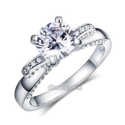 925 Sterling Silver Wedding Engagement Ring Vintage 2 Carat Lab Created Diamond - diamondiiz.com