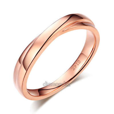 Matching 14K Solid Rose Gold Men Wedding Band Ring - diamondiiz.com