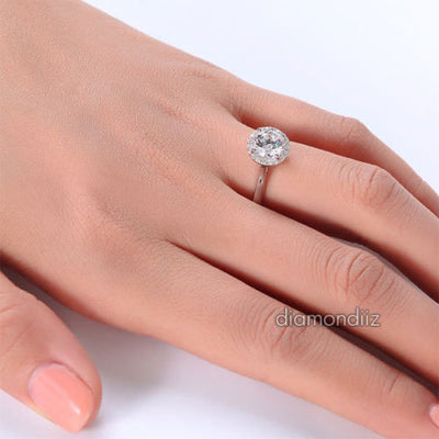 Sterling 925 Silver Bridal Wedding Promise Ring Floral 1 Ct  Man Made Diamond - diamondiiz.com