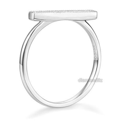 14K White Gold Wedding Band Women Elegant Ring 0.07 Ct Diamond Fine Jewelry - diamondiiz.com