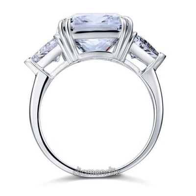 925 Sterling Silver Luxury Ring 8 Ct Princess Cut Lab Created Diamond - diamondiiz.com