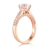 14K Rose Gold Wedding Engagement Ring 1.2 CT Topaz 0.42 CT Natural Diamonds - diamondiiz.com