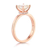 1 Carat Moissanite Diamond Wedding Engagement Ring 14K Rose Gold - diamondiiz.com