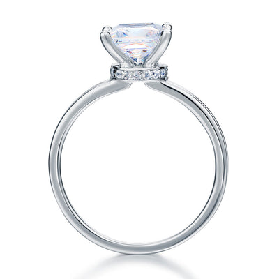 1 Carat Moissanite Diamond Wedding Engagement Ring 14K White Gold - diamondiiz.com