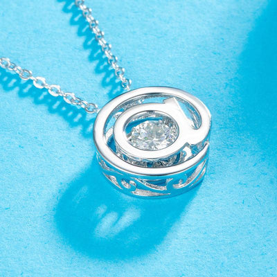 @ Pendant Moissanite Diamond Dancing Stone Necklace 925 Sterling Silver XFN8143