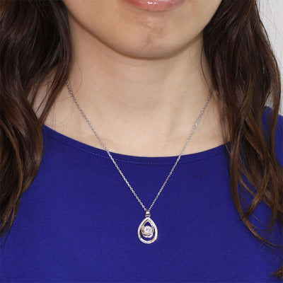 Round Cut Bridesmaid Pendant Necklace 925 Sterling Silver - diamondiiz.com