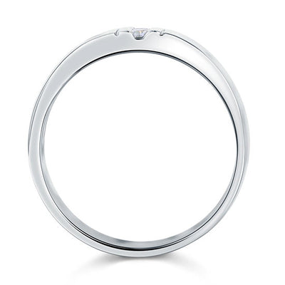 Round Cut Men's Wedding Band Ring Solid 925 Sterling Silver Jewelry - diamondiiz.com