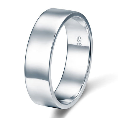 Men's Solid Sterling Solid 925 Silver Wedding Band Ring Jewelry - diamondiiz.com