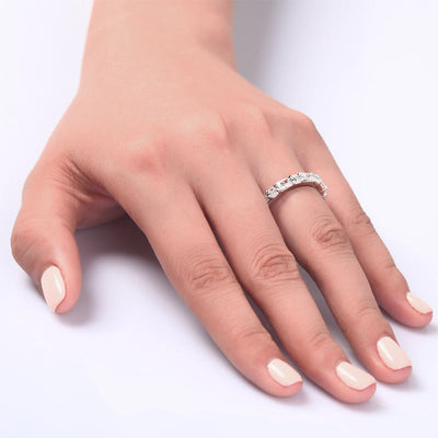 Solid 925 Sterling Silver Wedding Band Stacking Ring Jewelry - diamondiiz.com