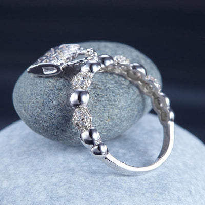 Solid 925 Sterling Silver Band Ring Dangle Purse 2017 New Style Design - diamondiiz.com