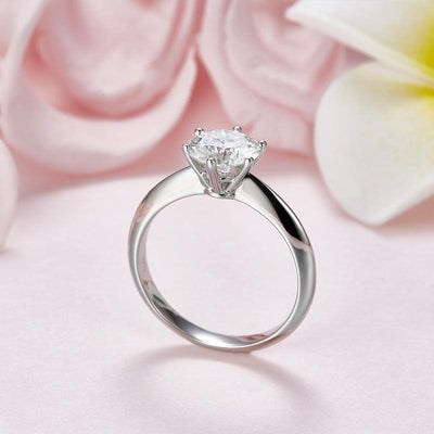 1.5 Carat Moissanite Diamond Solitaire Engagement Ring 925 Sterling Silver MFR8341