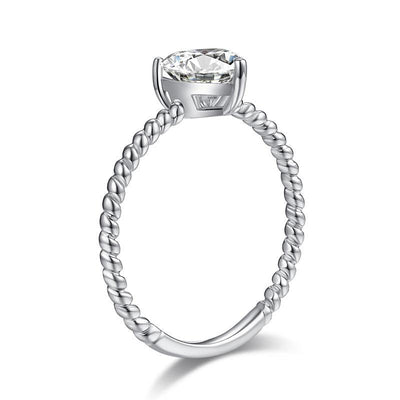 Heart 1 Carat Moissanite Diamond Ring Engagement 925 Sterling Silver MFR8345