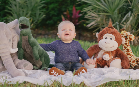 Jungle Baby Six Month Photo Shoot by The Kinsley Collection