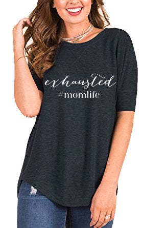 Exhausted #momlife - Womens' Flowy Tee - The Kinsley Collection