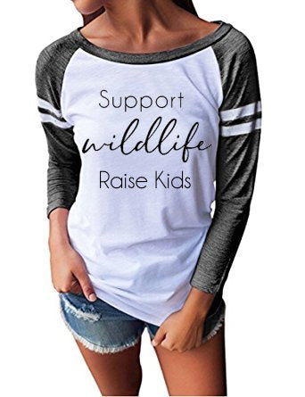 Support Wildlife- Raise Kids, Mom Life, Mommin' Ain't Easy, Mom Tee - The Kinsley Collection