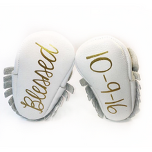 Baby Baptism - Monogrammed Moccasins - The Kinsley Collection