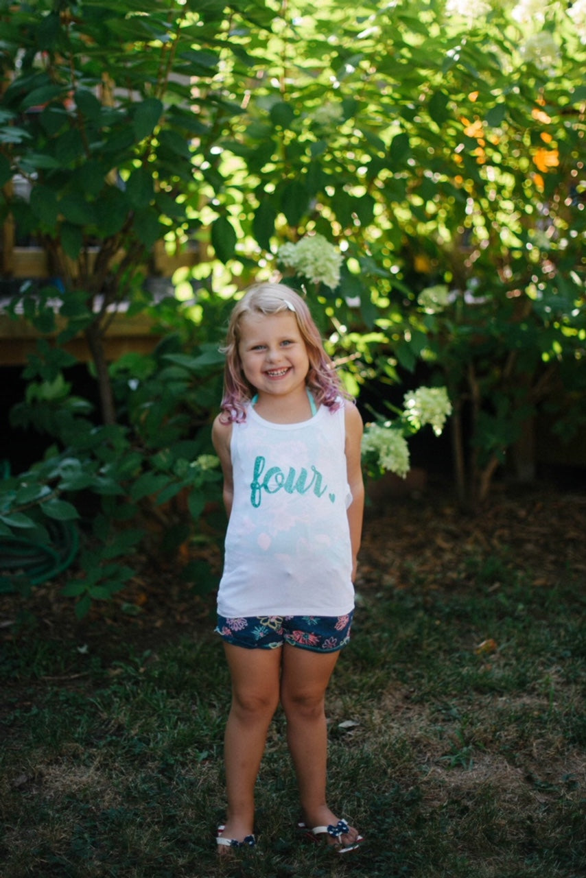 Girls' Glitter Birthday Tee - The Kinsley Collection