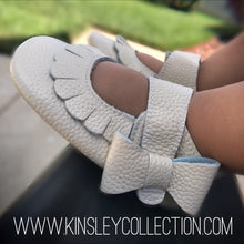 Monogrammed Side Bow Moccasins - The Kinsley Collection