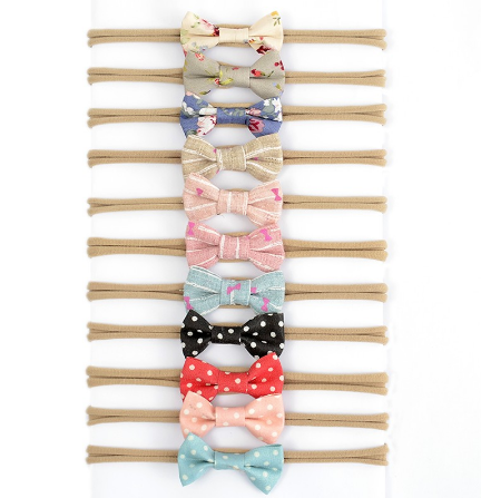 Caroline Patterned Headband Bow