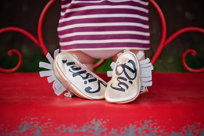 Pregnancy Announcement Baby Moccasins! - The Kinsley Collection