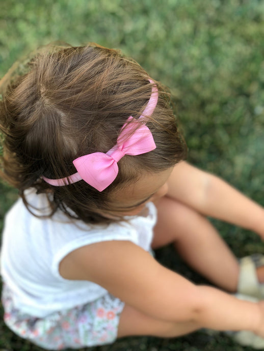 "Belle Mae 3"" Grosgrain Ribbon Headband Bow"