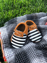 Modern Stripe - - Monogrammed Baby Moccasins - The Kinsley Collection