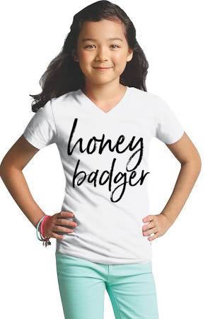 Honey Badger Girls Tee - The Kinsley Collection