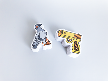 Joshua Lees die cut stickers