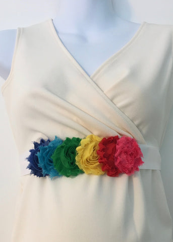 Rainbow Linear Maternity Sash