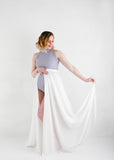 Abbey Wrap Skirt -White