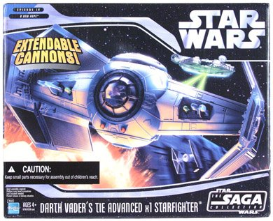 Star Wars Starfighter Vehicle Darth Vader Tie Advanced Starfighter Vehicle