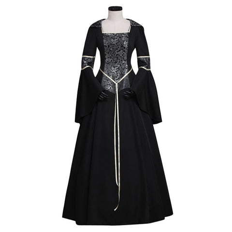 CosplayDiy Women's Medieval Gothic Witch Vampire Costume Dress XXL