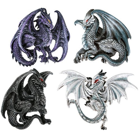 Dragon's Lair Ruth Thompson Set of 4 Collectible Sculptural Dragons Refrigerator Magnets Gift Decor