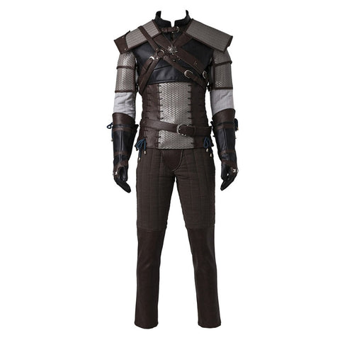 CosplayDiy Men's Suit for The Witcher 3 Wild Hunt Geralt of Rivia Cosplay M