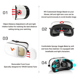 VR Goggles | 3D Virtual Reality Goggles | VR Headset iPhone 7 Plus, 6, 5 | VR Headset for Samsung Phones | VOX+ Z3 3D VR Goggles Are A Perfect Accessory For All iOS, And Android Phones.