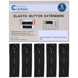 Elastic Pants Waist Extender 5-Pack - Strong Adjustable Pant Button Extenders by Comfy Clothiers