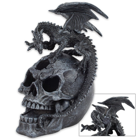 K EXCLUSIVE Dragon And Skull Statue With LED Light