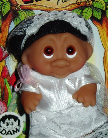 "WEDDING BRIDE Dam Troll Doll 3"" NEW Wedding Party - Bride"