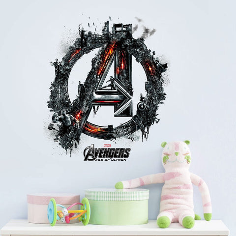 Fangeplus(TM) DIY Removable Avengers 2 Age of Ultron 3D Art Mural Vinyl Wall Stickers Kids Room Decor Nursery Decal Sticker Wallpaper 16.5''x13.8''